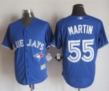 Toronto Blue Jays #55 Russell Martin Blue New Cool Base Stitched MLB Jersey