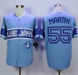 Toronto Blue Jays #55 Russell Martin Light Blue Exclusive New Cool Base Stitched MLB Jersey