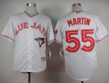 Toronto Blue Jays #55 Russell Martin White 2015 Canada Day Stitched MLB Jersey