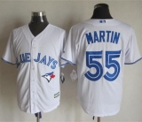 Toronto Blue Jays #55 Russell Martin White New Cool Base Stitched MLB Jersey
