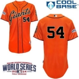 San Francisco Giants #54 Sergio Romo Orange Cool Base W 2014 World Series Patch Stitched MLB Jersey