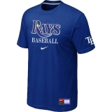 Tampa Bay Rays Blue Nike Short Sleeve Practice T-Shirt
