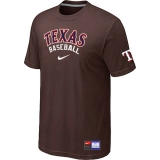 Texas Rangers Brown Nike Short Sleeve Practice T-Shirt