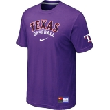 Texas Rangers Purple Nike Short Sleeve Practice T-Shirt