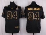 Nike Buffalo Bills #94 Mario Williams Black Men\'s Stitched NFL Elite Pro Line Gold Collection Jersey