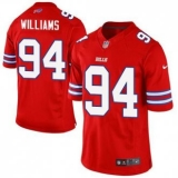 Nike Buffalo Bills #94 Mario Williams Red Men\'s Stitched NFL Elite Rush Jersey