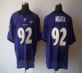 Nike Ravens #92 Haloti Ngata Purple Team Color With Art Patch Men\'s Stitched NFL Elite Jersey