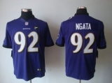 Nike Ravens #92 Haloti Ngata Purple Team Color With Art Patch Men\'s Stitched NFL Limited Jersey