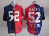 Nike Ravens & 49ers #52 Ray Lewis & Patrick Willis Purple Red Men\'s Stitched NFL Mixture Elite Jersey