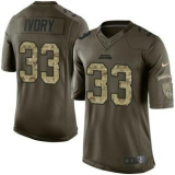 Nike Jaguars #33 Chris Ivory Green Men\'s Stitched NFL Limited Salute to Service Jersey