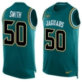 Nike Jaguars #50 Telvin Smith Teal Green Team Color Men\'s Stitched NFL Limited Tank Top Jersey
