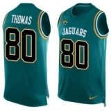 Nike Jaguars #80 Julius Thomas Teal Green Team Color Men\'s Stitched NFL Limited Tank Top Jersey
