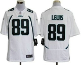 Nike Jaguars #89 Marcedes Lewis White Men\'s Stitched NFL Game Jersey