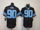 Nike Lions #90 Ndamukong Suh Black Alternate Men\'s Stitched NFL Elite Jersey
