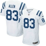 Nike Indianapolis Colts #83 Dwayne Allen White Men\'s Stitched NFL Elite Jersey