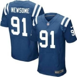Nike Indianapolis Colts #91 Newsome Jerseys Blue Elite Home Jersey