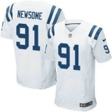 Nike Indianapolis Colts #91 Newsome Jerseys White Elite Road Jersey