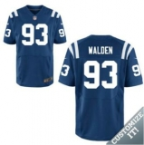 Nike Indianapolis Colts #93 Walden Jerseys Blue Elite Home Jersey