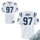 Nike Indianapolis Colts #97 Jones Jerseys White Elite Road Jersey