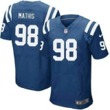 Nike Indianapolis Colts #98 Mathis Jerseys Blue Elite Home Jersey