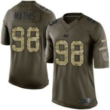 Nike Indianapolis Colts #98 Robert Mathis Green Men\'s Stitched NFL Limited Salute to Service Jersey
