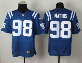 Nike Indianapolis Colts #98 Robert Mathis Royal Blue Team Color NFL Elite Jersey