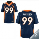 Nike Denver Broncos #99 Blue Vickerson Elite Alternate Jersey