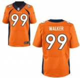 Nike Denver Broncos #99 Orange Walker Elite Home Jersey