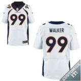 Nike Denver Broncos #99 White Walker Elite Road Jersey