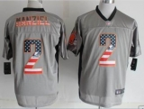 Nike Denver Browns #2 Johnny Manziel Grey NFL Elite USA Flag Fashion Jersey