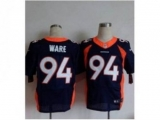 Nike jerseys denver broncos #94 ware blue[new Elite]