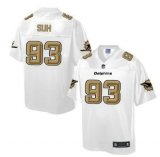Nike Miami Dolphins #93 Ndamukong Suh White Men\'s NFL Pro Line Fashion Game Jersey