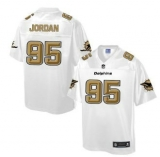 Nike Miami Dolphins #95 Dion Jordan White Men\'s NFL Pro Line Fashion Game Jersey