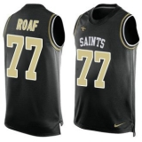 Nike Saints #77 Willie Roaf Black Team Color Men\'s Stitched NFL Limited Tank Top Jersey