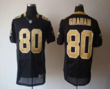 Nike Saints #80 Jimmy Graham Black Team Color Men\'s Stitched NFL Elite Jersey