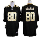 Nike Saints #80 Jimmy Graham Black Team Color Men\'s Stitched NFL Game Jersey