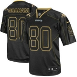 Nike Saints #80 Jimmy Graham Lights Out Black Men\'s Stitched NFL Elite Jersey