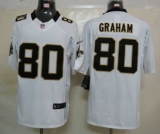 Nike Saints #80 Jimmy Graham White Men\'s Stitched NFL Limited Jersey