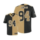 Nike Saints #94 Cameron Jordan Black Gold Men\'s Stitched NFL Elite Split Jersey