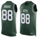 Nike New York Jets #88 Jace Amaro Green Team Color Men\'s Stitched NFL Limited Tank Top Jersey