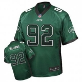 Nike New York Jets #92 Leonard Williams Green Team Color Men\'s NFL Elite Drift Fashion Jersey