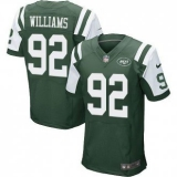 Nike New York Jets #92 Leonard Williams Green Team Color Men\'s NFL Elite Jersey