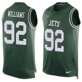 Nike New York Jets #92 Leonard Williams Green Team Color Men\'s Stitched NFL Limited Tank Top Jersey