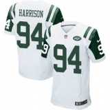 Nike New York Jets #94 Damon Harrison White Men\'s Stitched NFL Elite Jersey