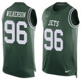 Nike New York Jets #96 Muhammad Wilkerson Green Team Color Men\'s Stitched NFL Limited Tank Top Jersey
