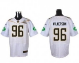 Nike New York Jets #96 Muhammad Wilkerson White 2016 Pro Bowl Men\'s Stitched NFL Elite Jersey