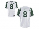 Nike New York Jets 8 Michael Vick White Elite NFL Jersey