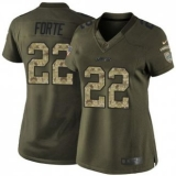 Women Nike Jets #22 Matt Forte Green NFL Limited Salute to Service Jersey