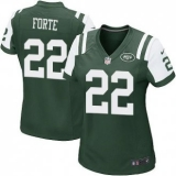 Women Nike Jets #22 Matt Forte Green Team Color Stitched NFL Elite Jersey