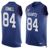 Nike New York Giants #84 Larry Donnell Royal Blue Team Color Men\'s Stitched NFL Limited Tank Top Jersey